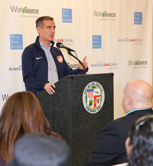 Mayor Garcetti Announcing the JobsLA App