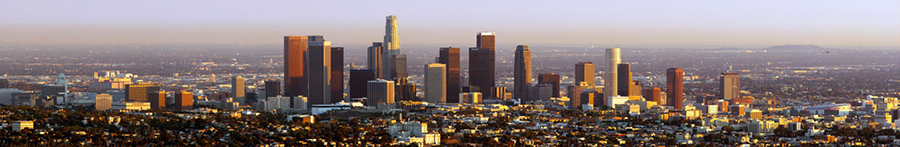 panorama picture of downtown Los Angeles