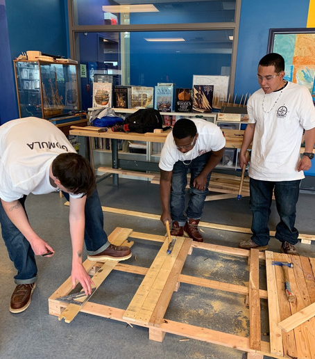 Los Angeles based Compass Rose Collaborative hosts a Construction Apprenticeship Program through the Los Angeles EWDD Boyle Heights YouthSource Center