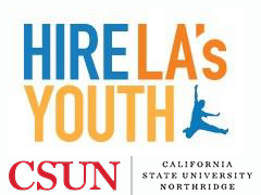 Hire LA's Youth and CSUN logos