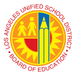 Los Angeles Unified School District logo and website link