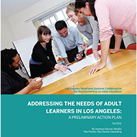 Adult Education Plan report cover