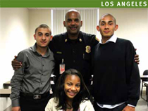 Successful Summer Youth Employment Program participants pose with their LAPD manager